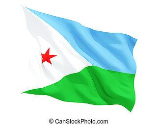 Waving flag of djibouti
