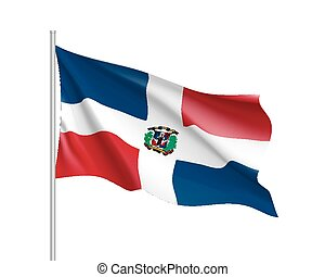 Waving flag of Dominican