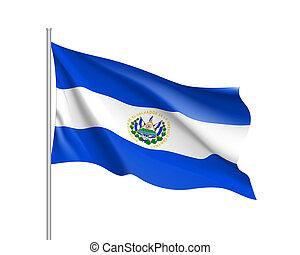 Waving flag of El Salvador