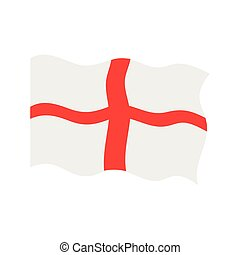 Waving flag of England