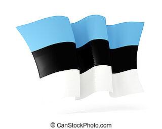 Waving flag of estonia. 3D illustration