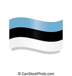 Waving flag of Estonia