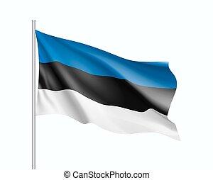 Waving flag of Estonia state