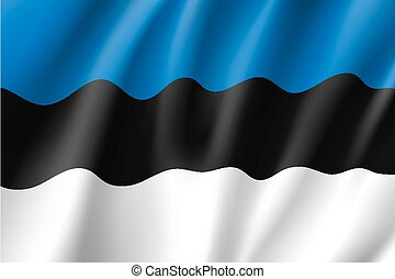 Waving flag of Estonia