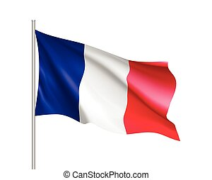 Waving flag of France state
