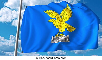 Waving flag of Friuli-Venezia Giulia a region of Italy -...