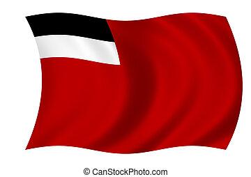 flag of Georgia - waving flag of Georgia