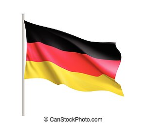 Waving flag of German state.
