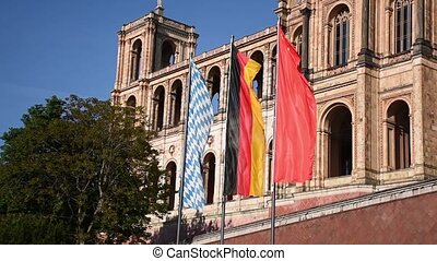 Maximilianeum, Building of the bavarian Parliament, Munich, Bavaria, Germany,