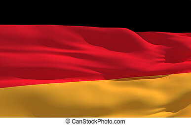 Waving flag of Germany - Fluttering flag of Germany on the...
