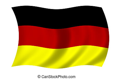 flag of Germany - waving flag of Germany