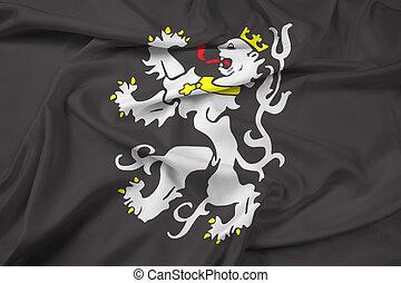 Waving Flag of Ghent, Belgium