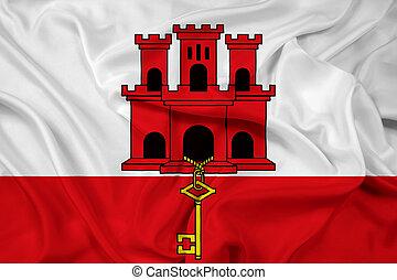 Waving Flag of Gibraltar