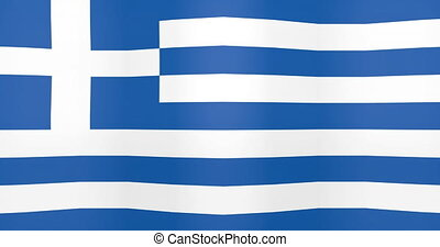Waving Flag of Greece Looping Background