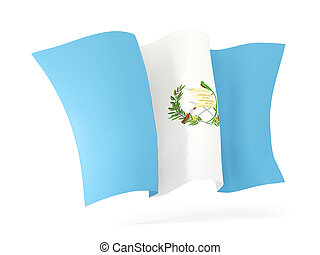 Waving flag of guatemala. 3D illustration