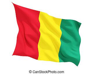 Waving flag of guinea