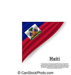waving flag of Haiti