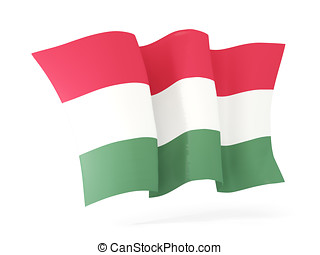 Waving flag of hungary. 3D illustration