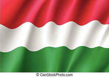 Waving flag of Hungary