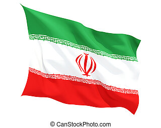 Waving flag of iran