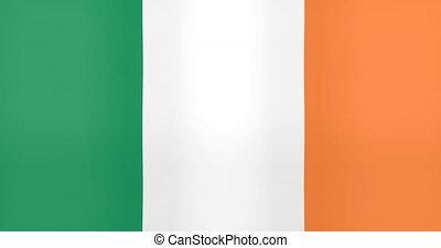 Waving Flag of Ireland Looping Background