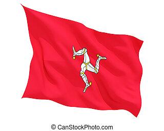 Waving flag of isle of man