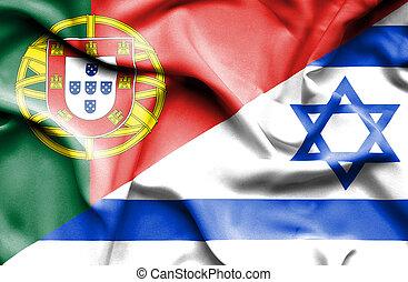 Waving flag of Israel and Portugal - Waving flag of Israel ...