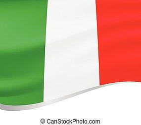 Waving flag of Italy