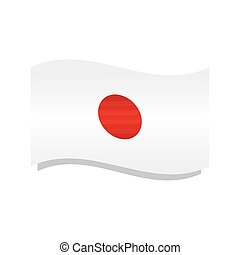Waving flag of Japan