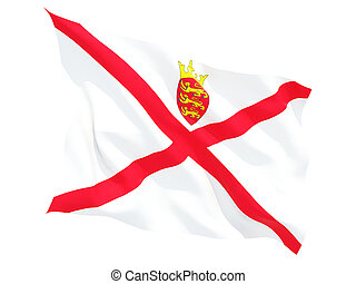 Waving flag of jersey