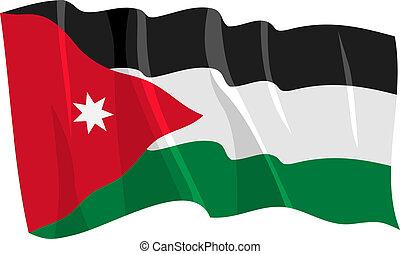 waving flag of Jordan