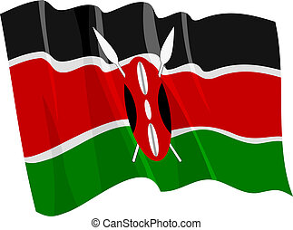 waving flag of Kenya