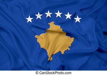 Waving Flag of Kosovo