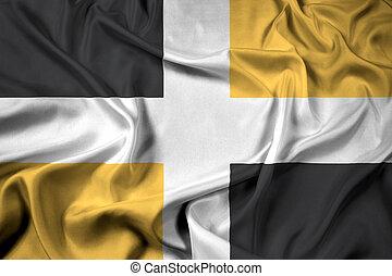 Waving Flag of Levis, Quebec, Canada