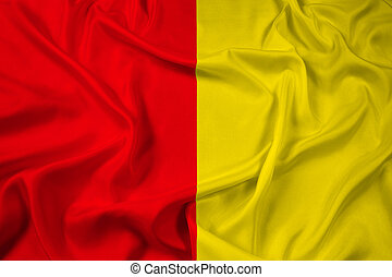 Waving Flag of Liege, Belgium