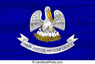 Waving flag of Louisiana. 10 EPS