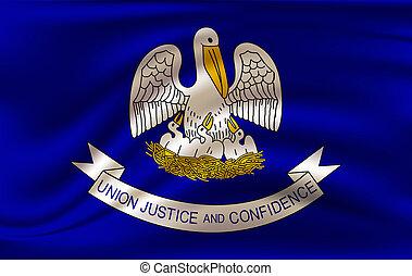 Waving flag of Louisiana.