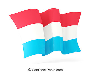 Waving flag of luxembourg. 3D illustration