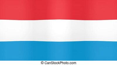 Waving Flag of Luxembourg Looping Background