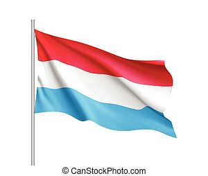 Waving flag of Luxembourg state.