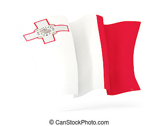 Waving flag of malta. 3D illustration