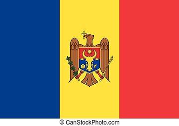 Waving flag of Moldova.