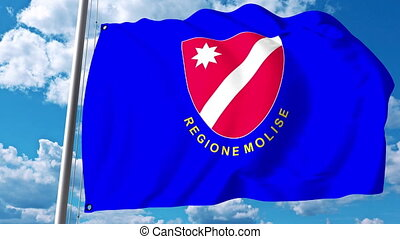Waving flag of Molise a region of Italy - Waving flag of...