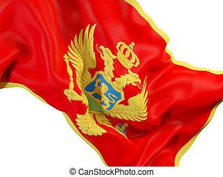 Waving flag of montenegro