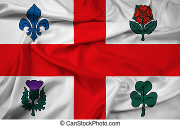 Waving Flag of Montreal, Canada