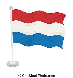 Waving flag of Netherlands