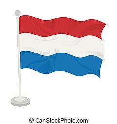 Waving flag of Netherlands