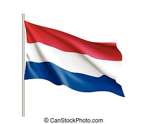 Waving flag of Netherlands state.