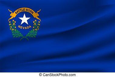 Waving flag of NEVADA. 10 EPS
