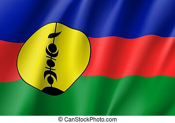 Waving flag of New Caledonia